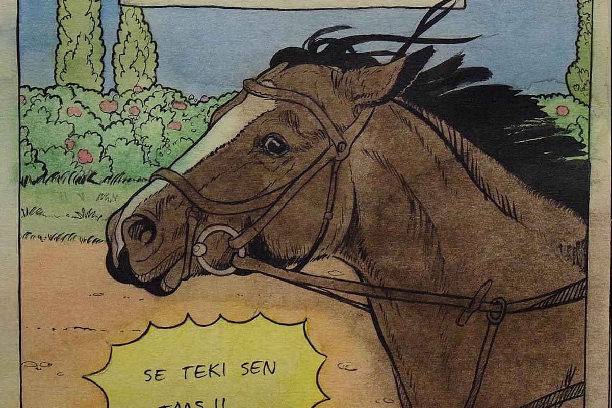 Veera Tammisen hevos sarjakuva. Horse Comic by Veera Tamminen