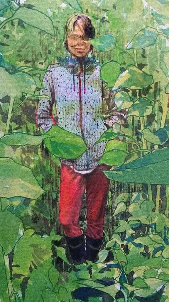 Veera Tammisen maalaus omakuva