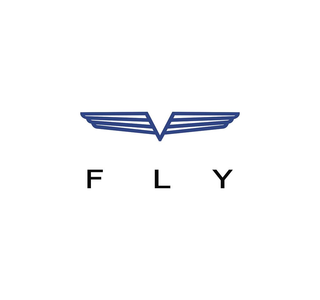 Logo for V FLY oy designed by Veera Tamminen